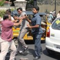Charan's Bodyguards Attack 2 People In An Unnecessary Street Brawl