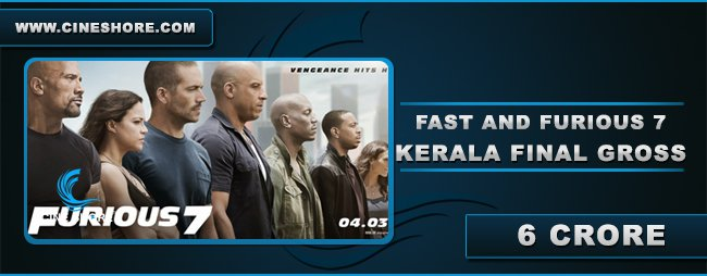 Fast & Furious 7 Kerala Collection Image