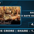 Bahubali 5 days Kerala Collection Image