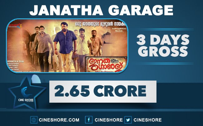 janatha-garage-3-days-kerala-collections
